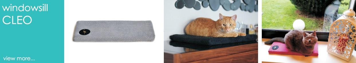 lauren design windowsill for dog and cat bed cleo